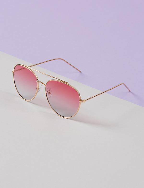 Thin Framed Aviator Sunglasses