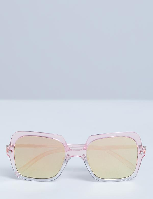 Oversized Transluscent Ombre Square Sunglasses