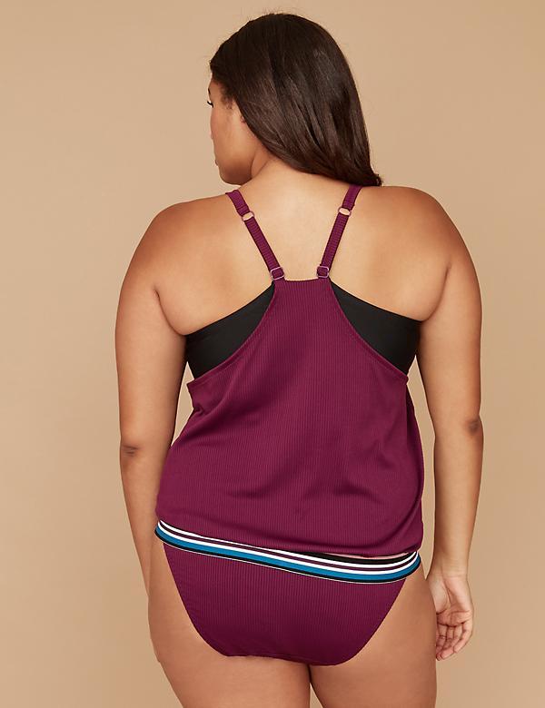 swimwear,plussize lanebryant.blouson-swim-tankini-top-