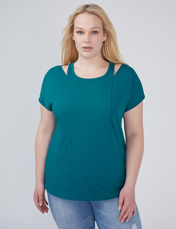 Shoulder-Cutout Tee