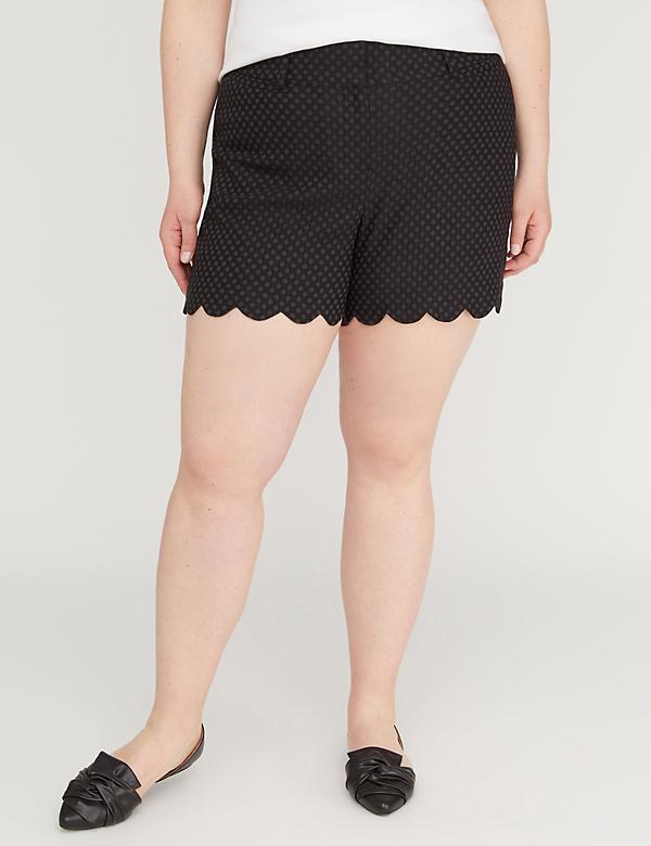 Allie Sexy Stretch Short - Scallop Hem