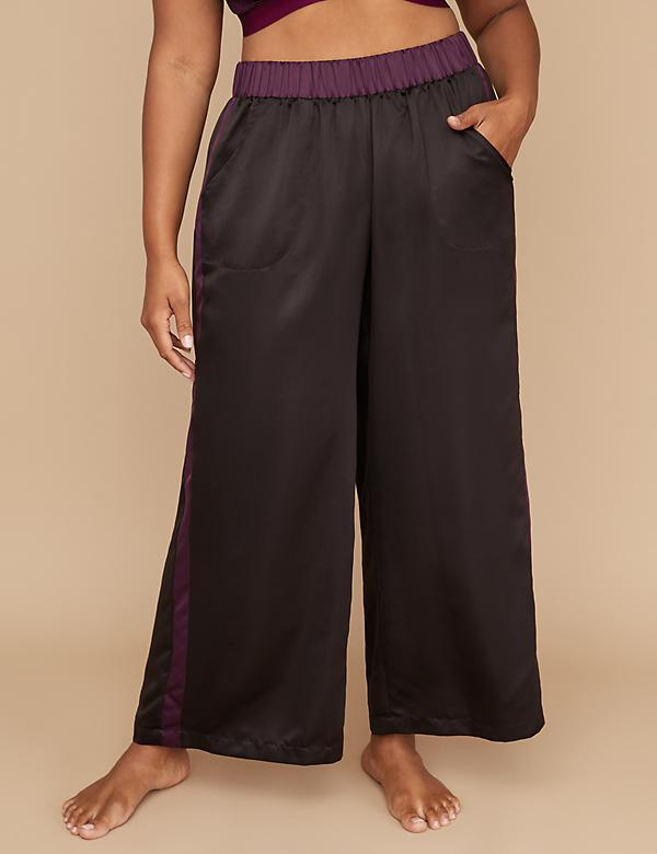 Satin Wide Leg Sleep Pant