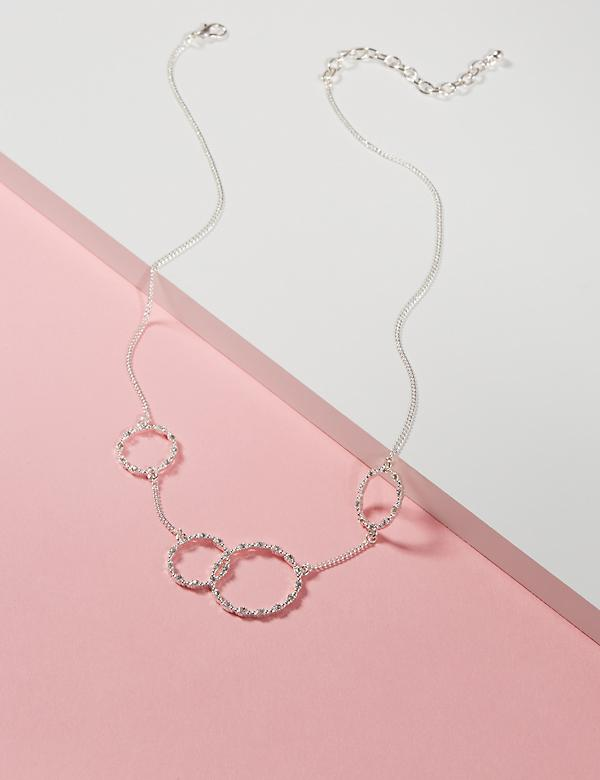 Pave Circle Collar Necklace