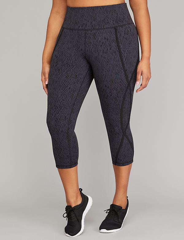Wicking Active Capri Legging - Printed