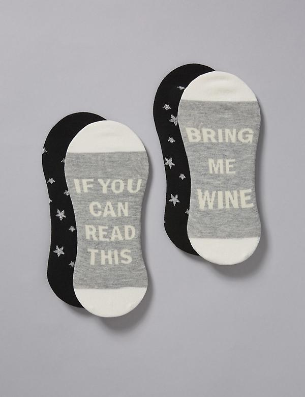 Graphic Ankle Socks 2-Pack