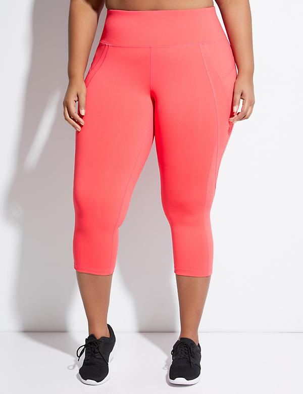 Wicking Active Capri Legging with Side Panel Pockets