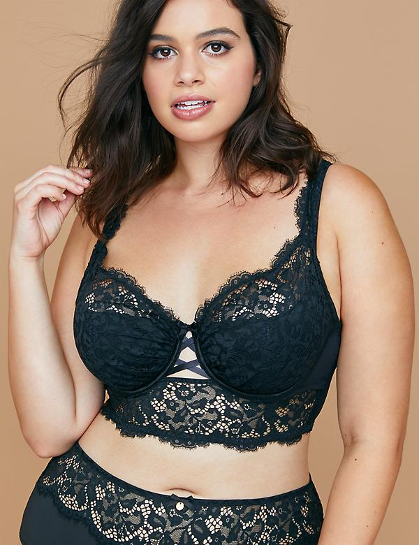 Longline French Balconette Bra with Lace