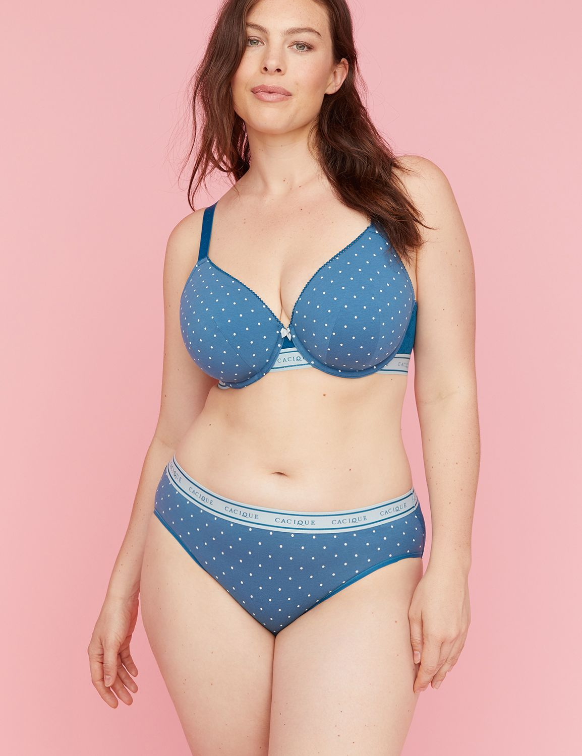 Available in Plus Size. A hipster in soft, stretchy cotton with a Stretch Lace back and striped logo elastic waistband. (We dropped Sassy from the name but didn't change a thing. Same fit. Same fabric. Same panty you love.) Sits high at the hip. Full back-coverage. Higher leg opening. Item Number #350430, Imported Plus Size Panty