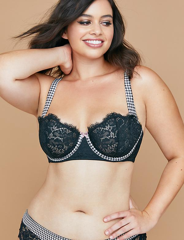 Unlined Balconette Bra with Lace