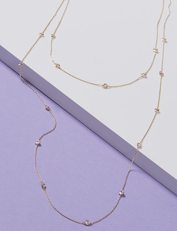Long 2-Layer Station Necklace