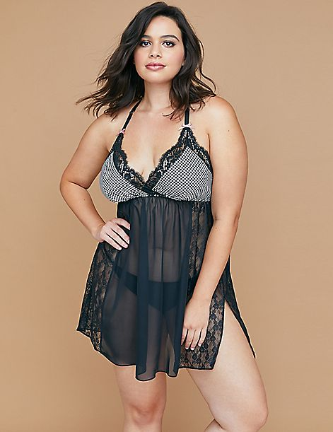 No Wire Chemise with Lace