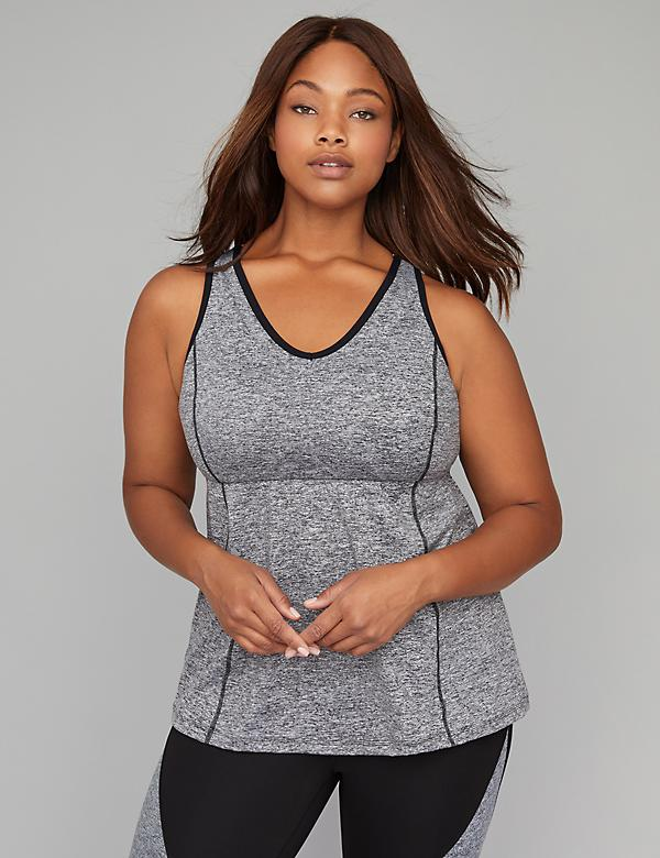 Wicking Empire Active Tank with Built-In Low Impact Sport Bra