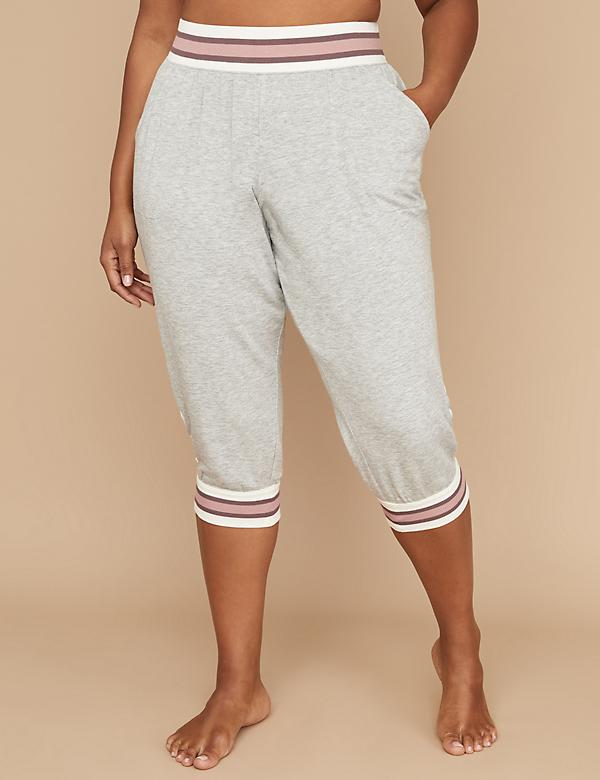 Lace-Up French Terry Sleep Crop Jogger