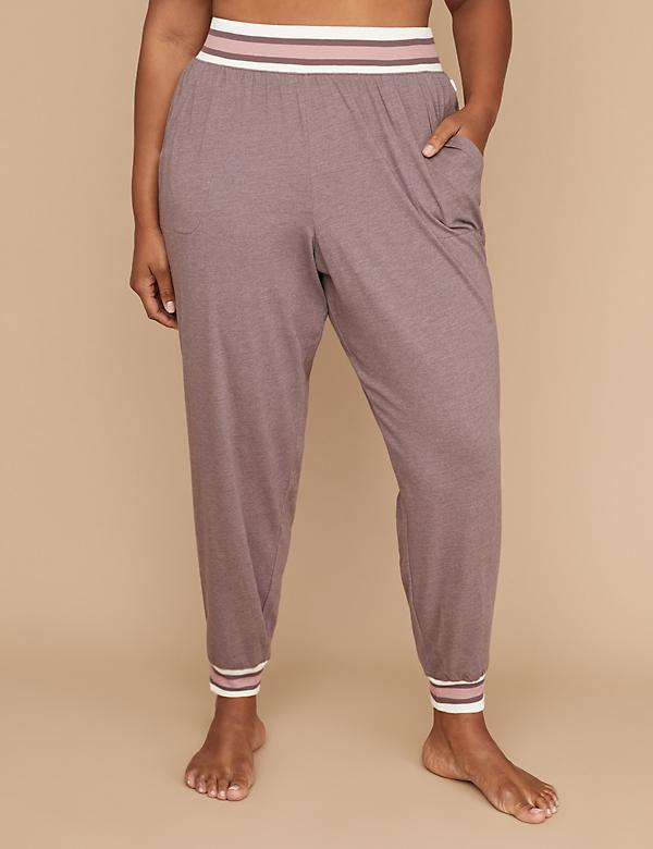 Striped Trim Sleep Jogger