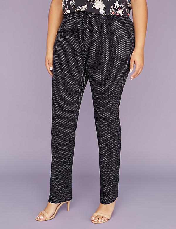 Allie Sexy Stretch Straight Leg Pant - Fletcher Dot