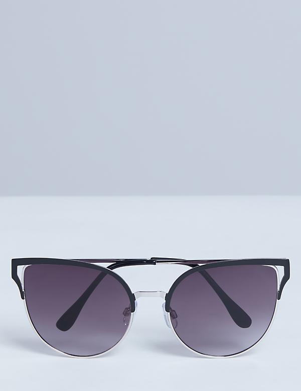 Oversized Metal Cateye Sunglasses