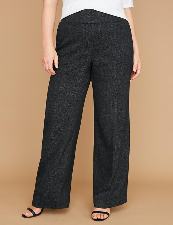 Allie Tailored Stretch Wide Leg Pant - Galaxy Tweed