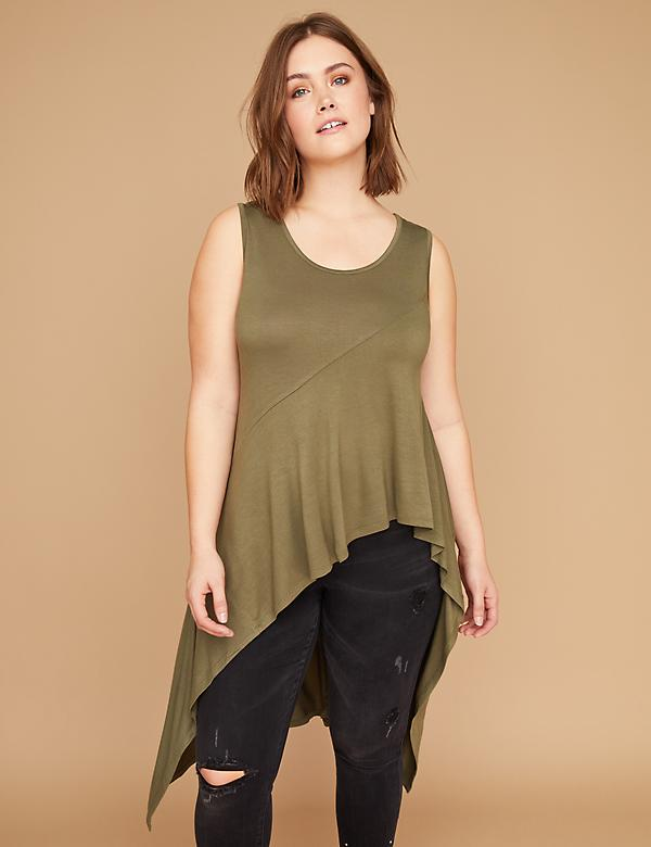 Asymmetrical Scoop-Neck Tank