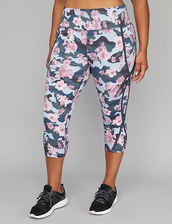 Wicking Active Capri Legging - Seamed & Printed