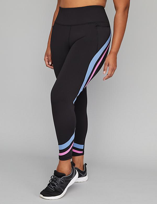 Wicking Active 7/8 Legging - Curved Insets