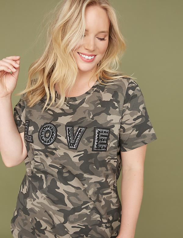 Embellished Love Graphic Tee