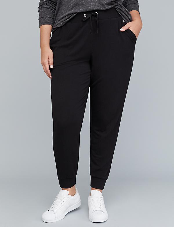 Zipper-Hem Active Jogger