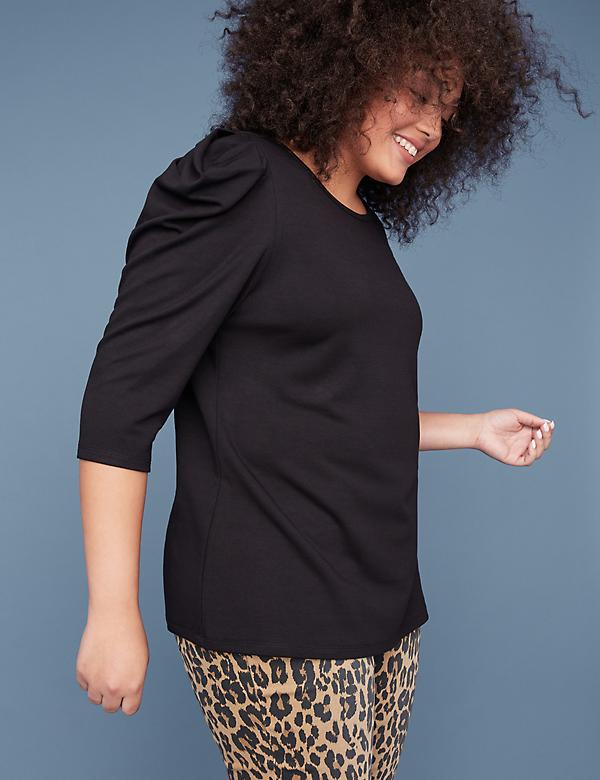 Strong Shoulder Ponte Top