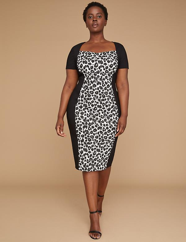 Cheetah Print Sheath Dress