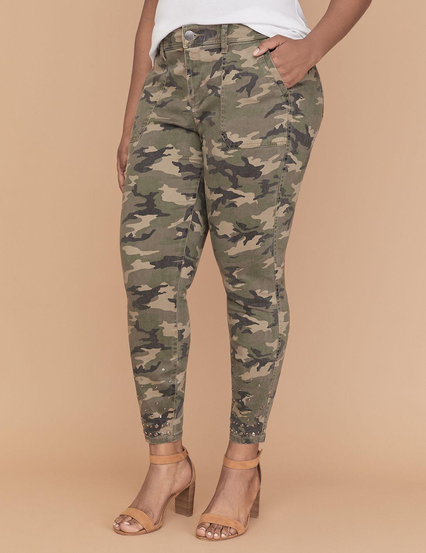 Petite Utility Skinny Pant - Studded Hem