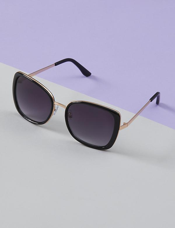 Tortoiseshell Sunglasses with Metal Bridge