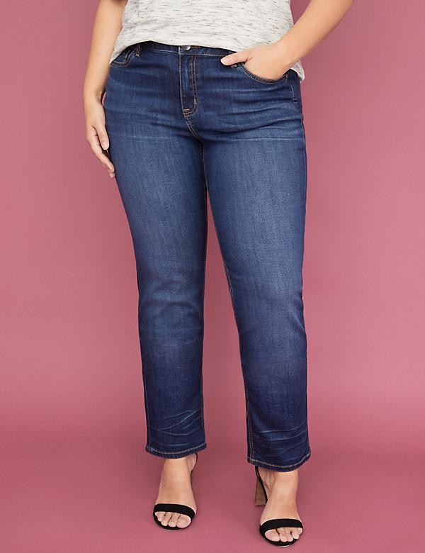Super Stretch Straight Jean - Medium Wash