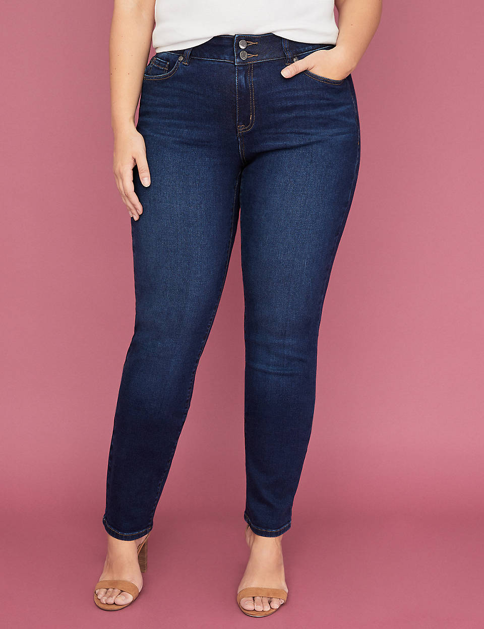 1dea2d9d7c0c9 Tighter Tummy Essential Stretch Straight Jean - Dark Wash