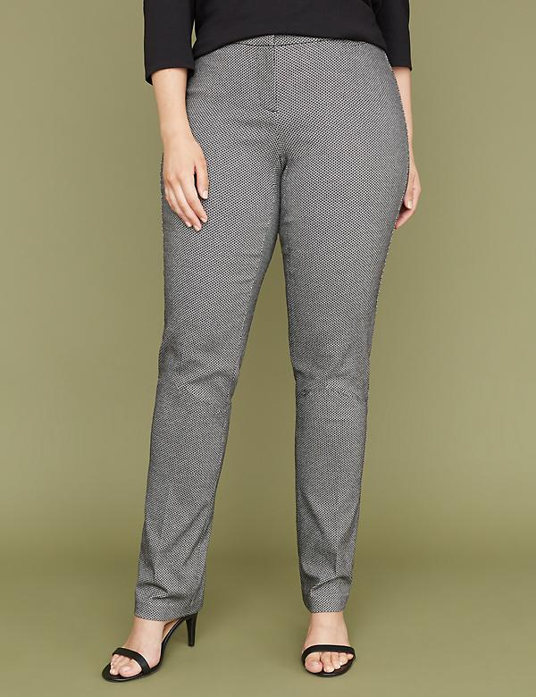Allie Sexy Stretch Straight Leg Pant - Mini Hexagon