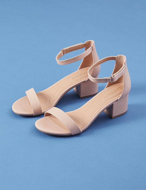 Short Ankle Strap Block Heel