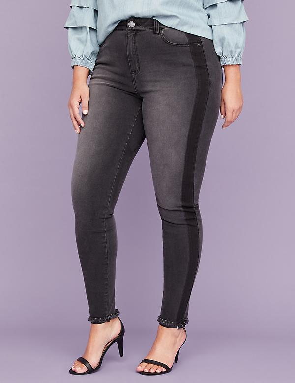 Ultimate Stretch Skinny Jean - Black Tuxedo Stripe