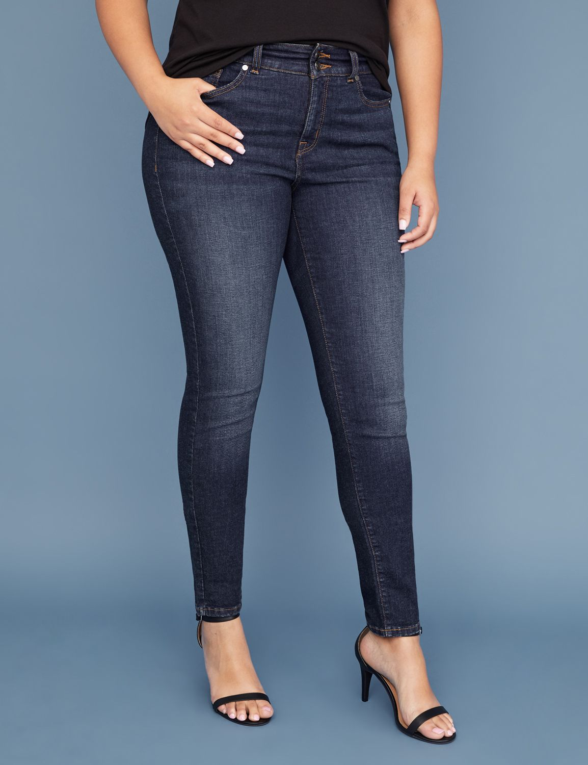 Tighter Tummy Essential Stretch Skinny Jean - Dark Wash