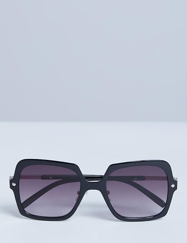 Oversized Square Clear Sunglasses
