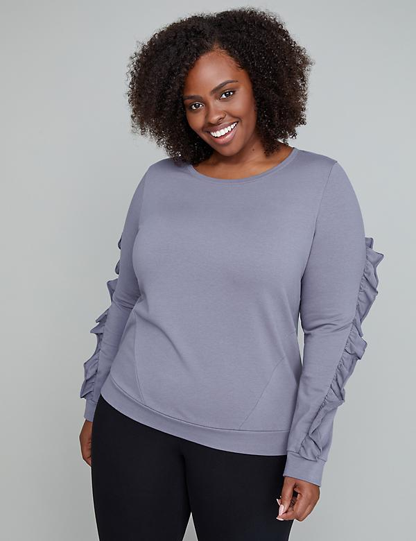 Ruffle Active Sweatshirt