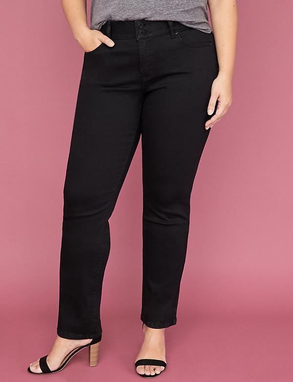 Tighter Tummy Essential Stretch Straight Jean - Black