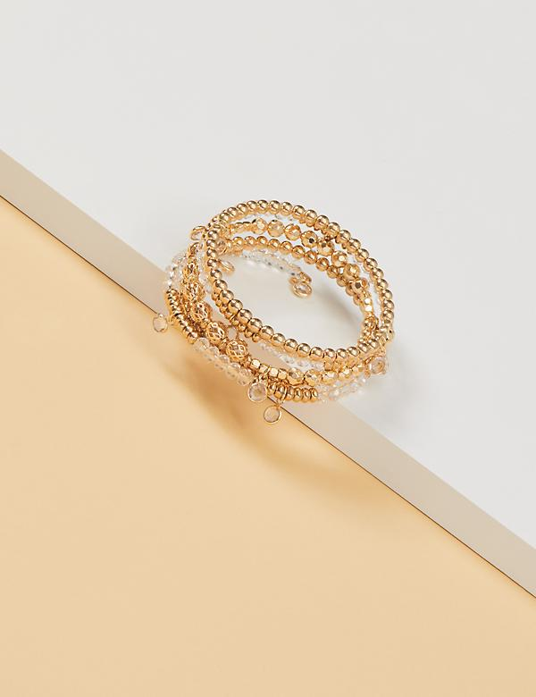 Beaded Coil Cuff