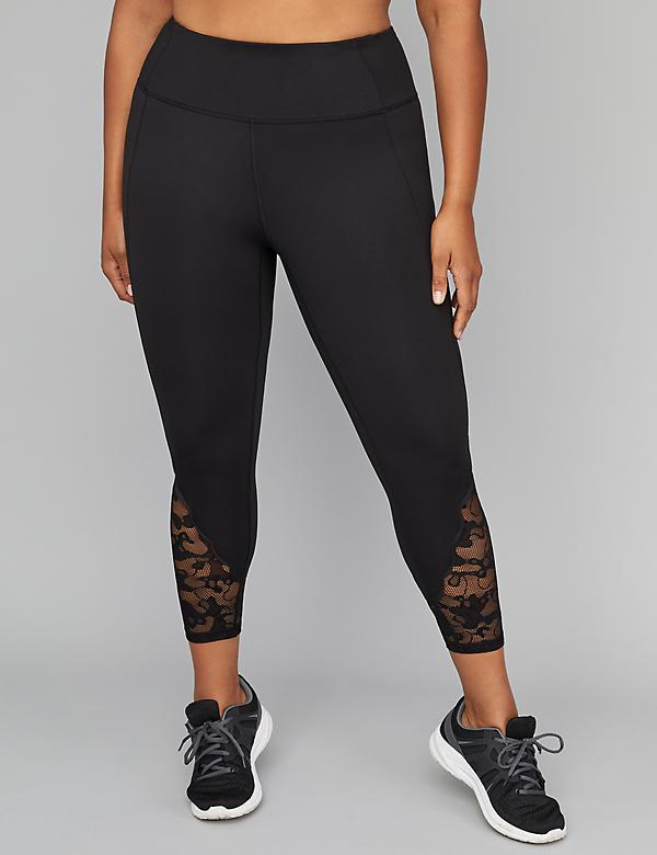 Wicking Active 7/8 Legging - Mesh Lace Inset