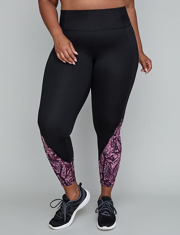 Sculpting Active 7/8 Active Legging - Scalloped Print Inset