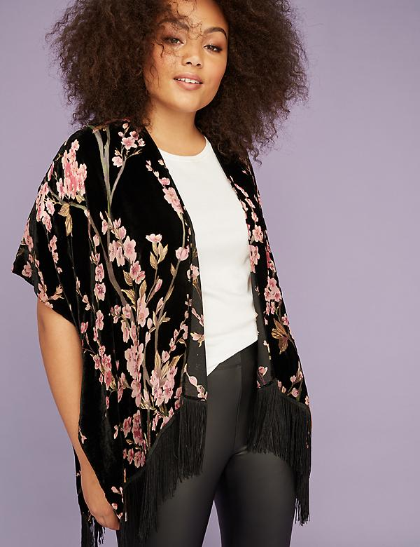 Burnout Floral Overpiece