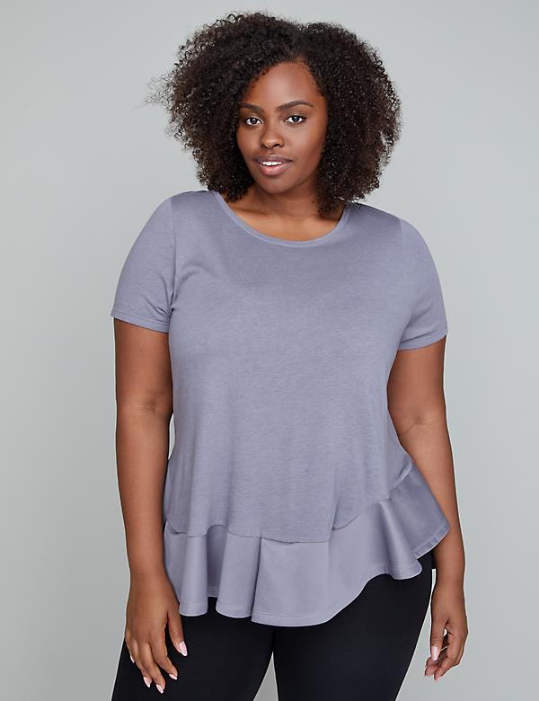 Ruffle Hem Active Top