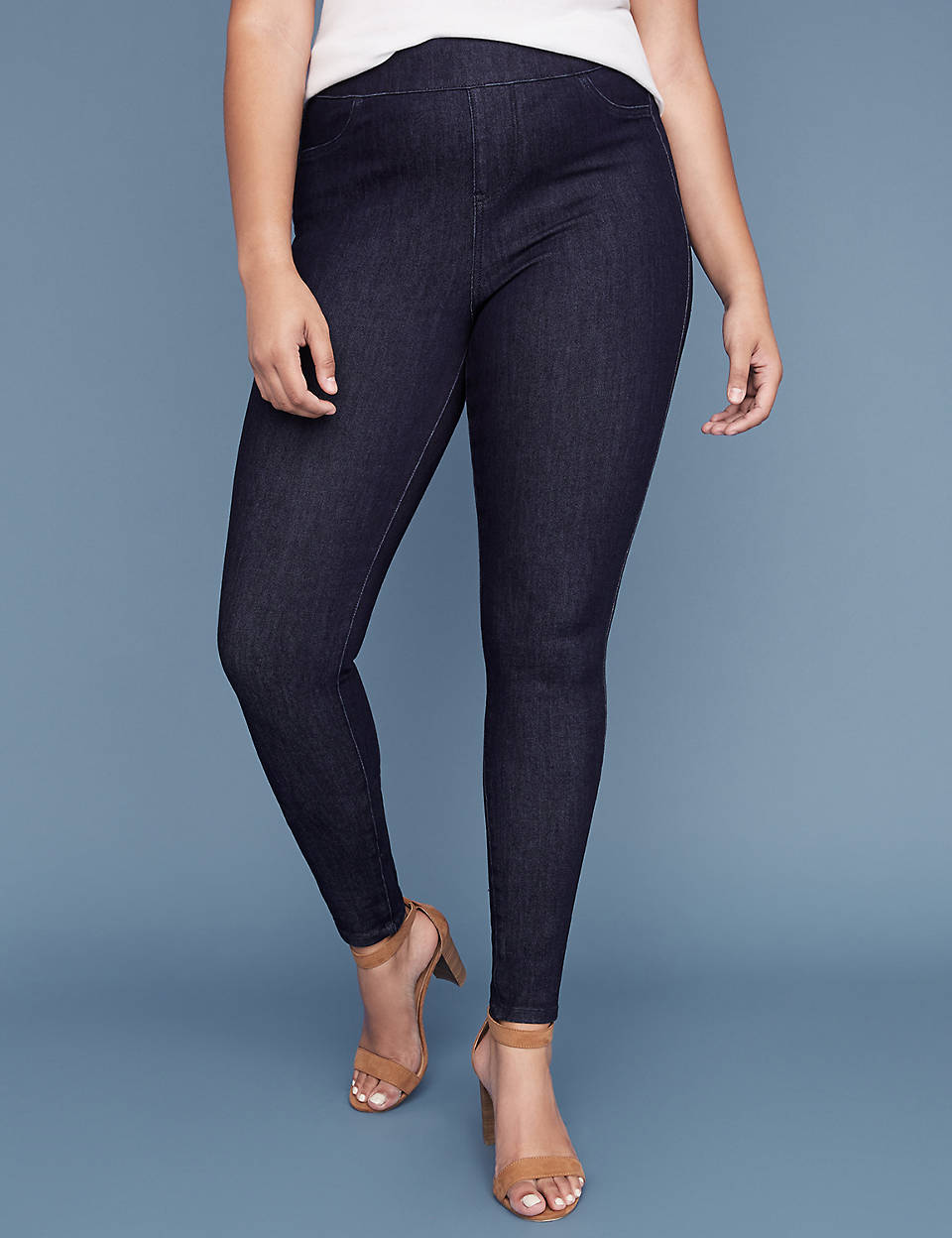 10a8c9fb1 Ultimate Stretch High Rise Jegging - Rinse Wash | Lane Bryant