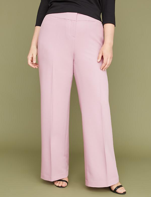 Allie Tailored Stretch Wide Leg Pant - Textured