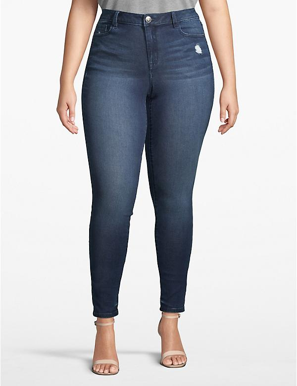 Venezia Smoothing Stretch Skinny Jean - Backed Destruction
