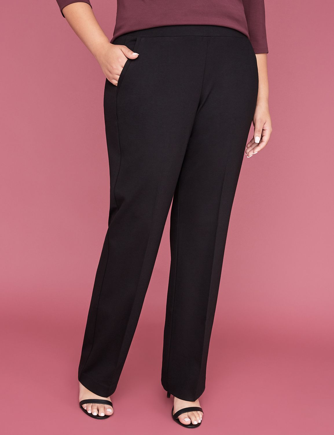 d763201f0d2c9 Ponte Straight Leg Pant - Pull On | Lane Bryant