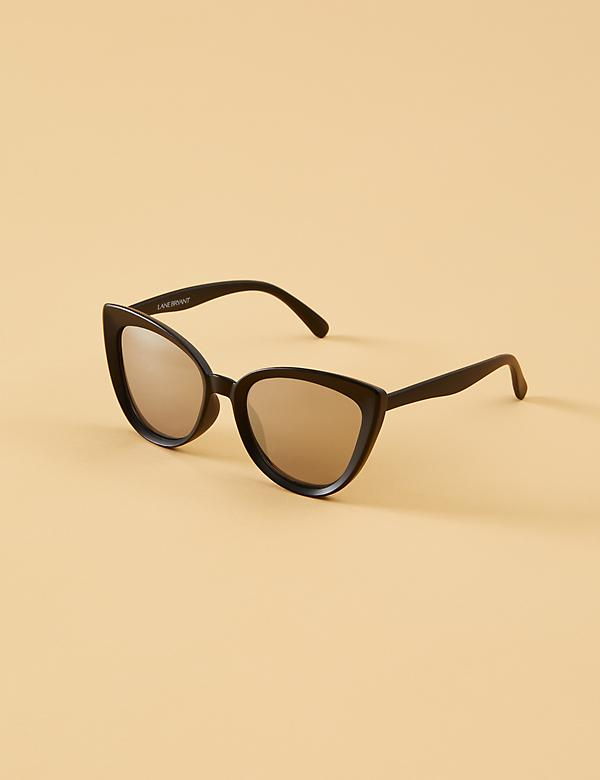 Black Matte Cateye Sunglasses