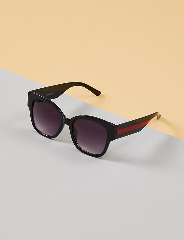 Sunglasses with Red Striped Arms